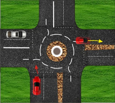 traffic circle intersection